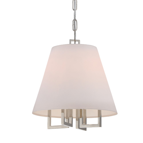 Libby Langdon for Crystorama Westwood 4 Light Nickel Chandelier