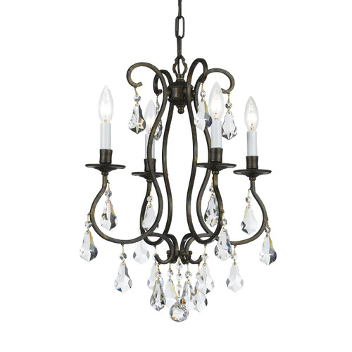 Crystorama Ashton 4 Light Mini Chandelier