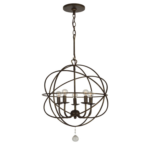 Crystorama Solaris 5 Light Mini Chandelier
