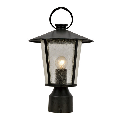 Crystorama Andover Outdoor 1 Light Matte Black Post Mount
