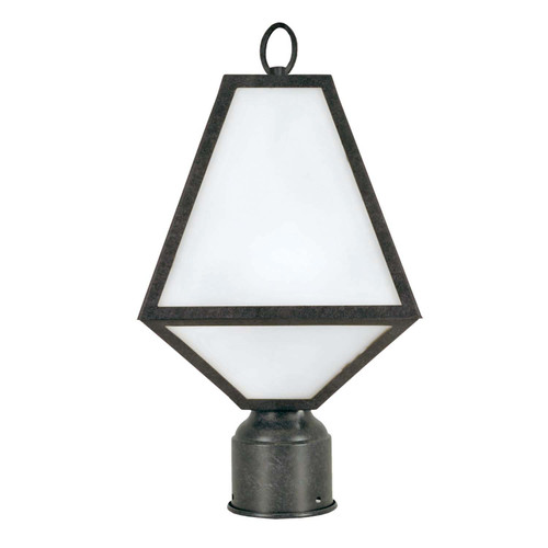Brian Patrick Flynn for Crystorama Glacier 1 Light Black Charcoal Outdoor Post