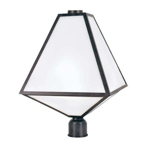 Brian Patrick Flynn for Crystorama Glacier 3 Light Black Charcoal Outdoor Post