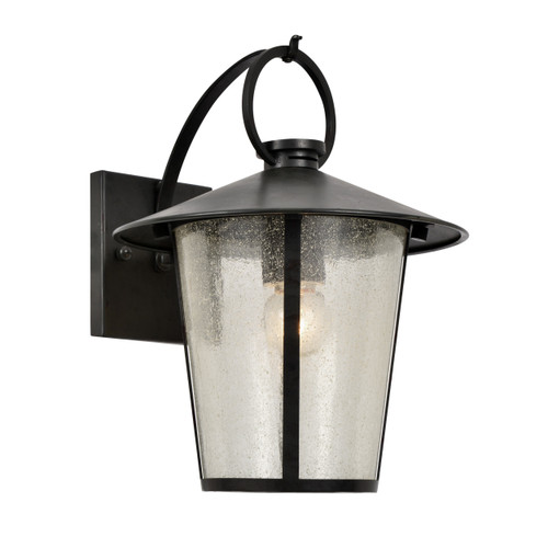 Crystorama Andover Outdoor 1 Light Matte Black Wall Mount