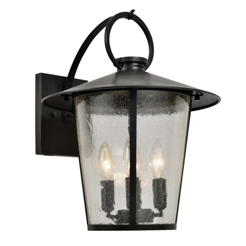 Crystorama Andover Outdoor 4 Light Matte Black Wall Mount