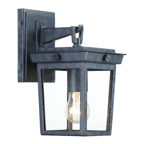 Crystorama Belmont 1 Light Graphite Outdoor Wall Mount