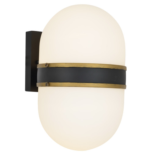 Brian Patrick Flynn for Crystorama Capsule 2 Light Matte Black & Textured Gold Wall Mount