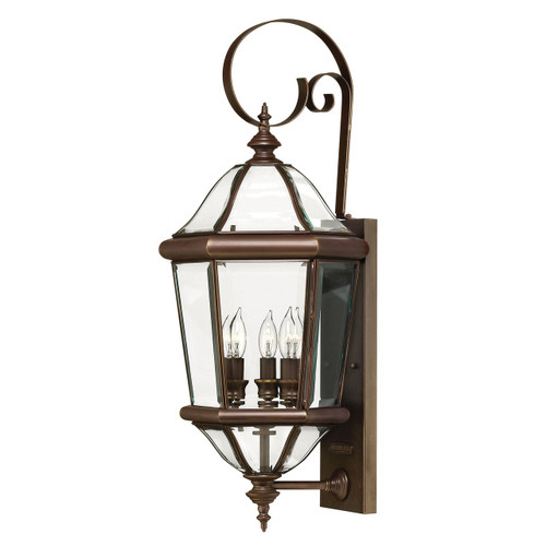 Hinkley Augusta Outdoor Hook Arm Wall Sconce