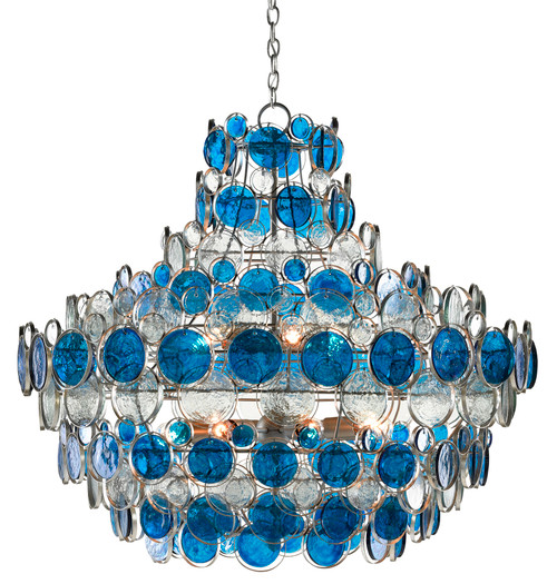 Currey And Company Galahad Blue Chandelier