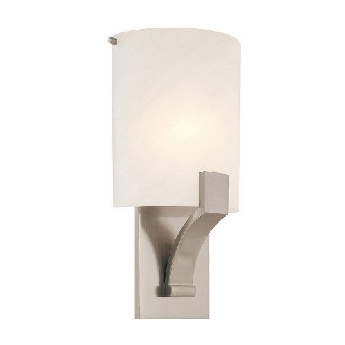 Shown in Satin Nickel with Glass Shade