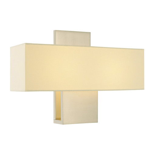 Shown in Satin Nickel with Linen Shade