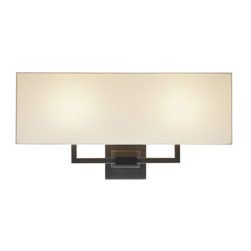 Shown in Black Brass with Off-White Linen Shade