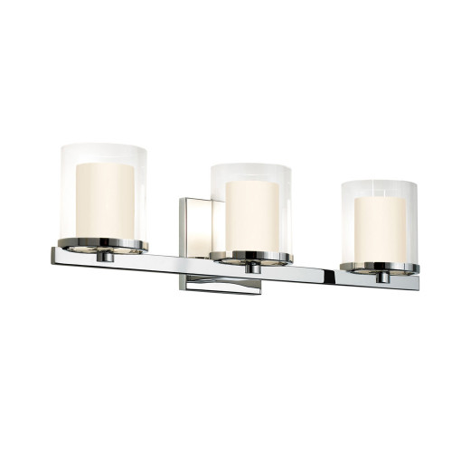 Shown in Polished Chrome with Clear Glass Shade