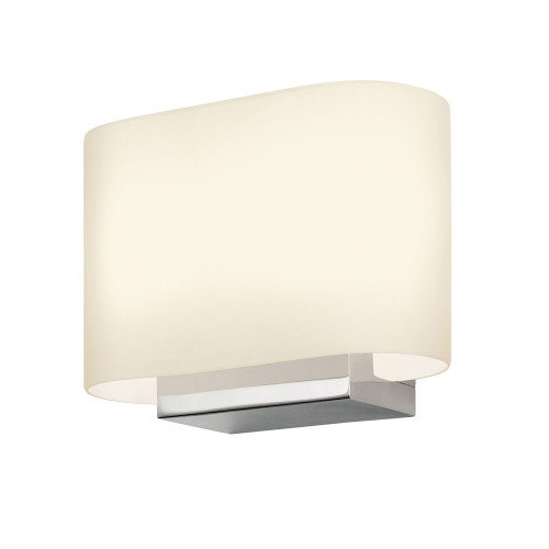 Shown in Polished Chrome with White Etched Cased Glass Shade