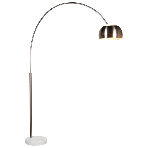 Shown in Satin Nickel with Metal & Etched Glass Shade