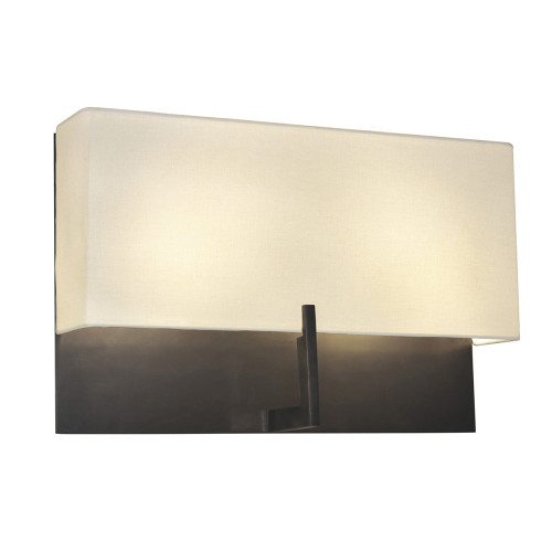 Shown in Rose Bronze with Off-White Linen Shade