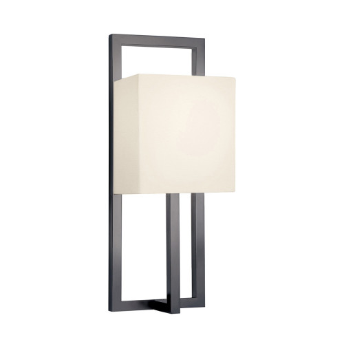 Shown in Black Bronze with Off-White Linen Shade