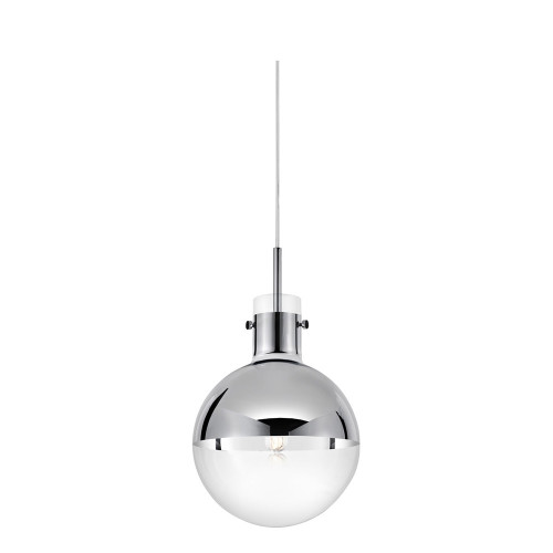 Shown in Polished Chrome with Half-Mercury Glass Shade