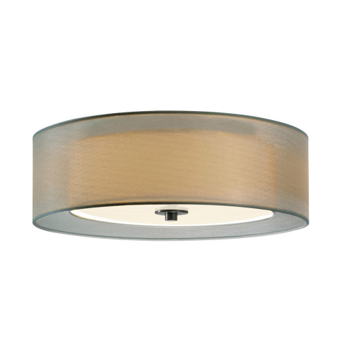 Shown in 16 inch Satin Nickel with Silver Organza Shade