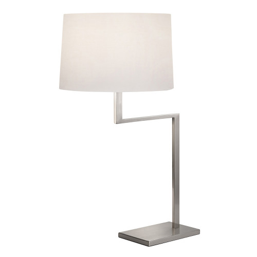 Shown in Satin Nickel with White Cotton Shade