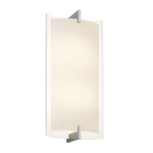 Shown in Polished Chrome with White Etched Glass Shade
