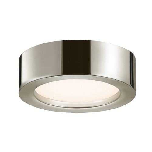 Shown in Small Polished Nickel with Polished Nickel Metal Shade