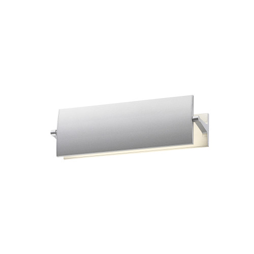 Shown in 12 inch Bright Satin Aluminum with Bright Satin Aluminum Aluminum Shade