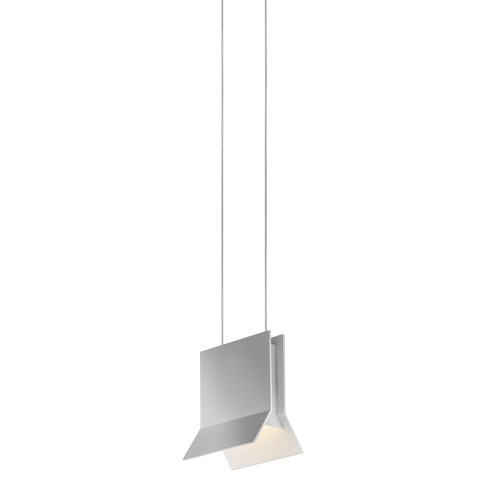 Shown in Bright Satin Aluminum with Bright Satin Aluminum Die-Cast Aluminum Shade