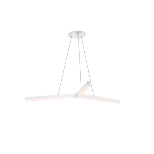 Shown in Satin White with Frosted Optical Acrylic Shade