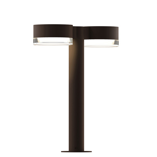 Shown in 16 inch Textured Bronze with Clear Shade