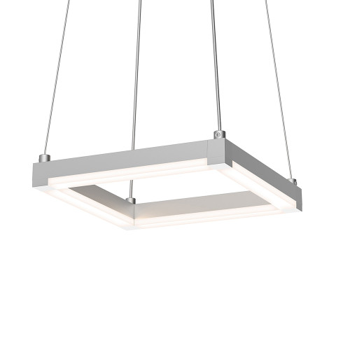 Shown in 9 inch Bright Satin Aluminum with Frosted Optical Acrylic Shade