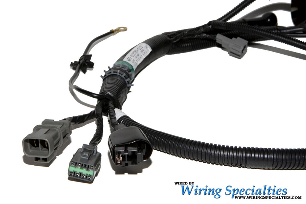 s14 sr20det wiring harness combo for s13 240sx oem series  nissan 240sx s14 sr20det transmission harness wiring specialties #6