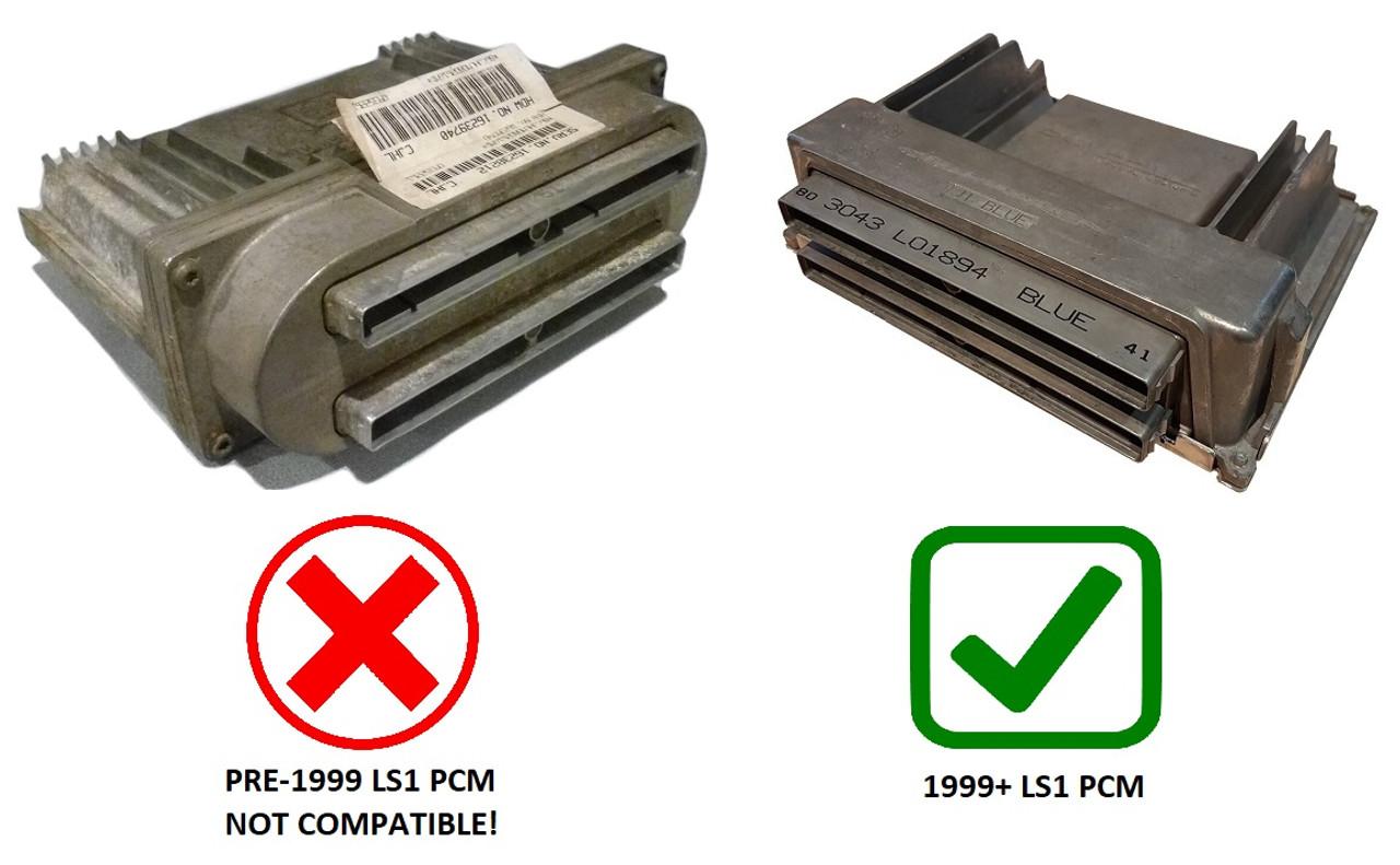 ls1 pcm wire harness blue green ls1 411 ecu flash engine start guaranteed wiring specialties  ls1 411 ecu flash engine start
