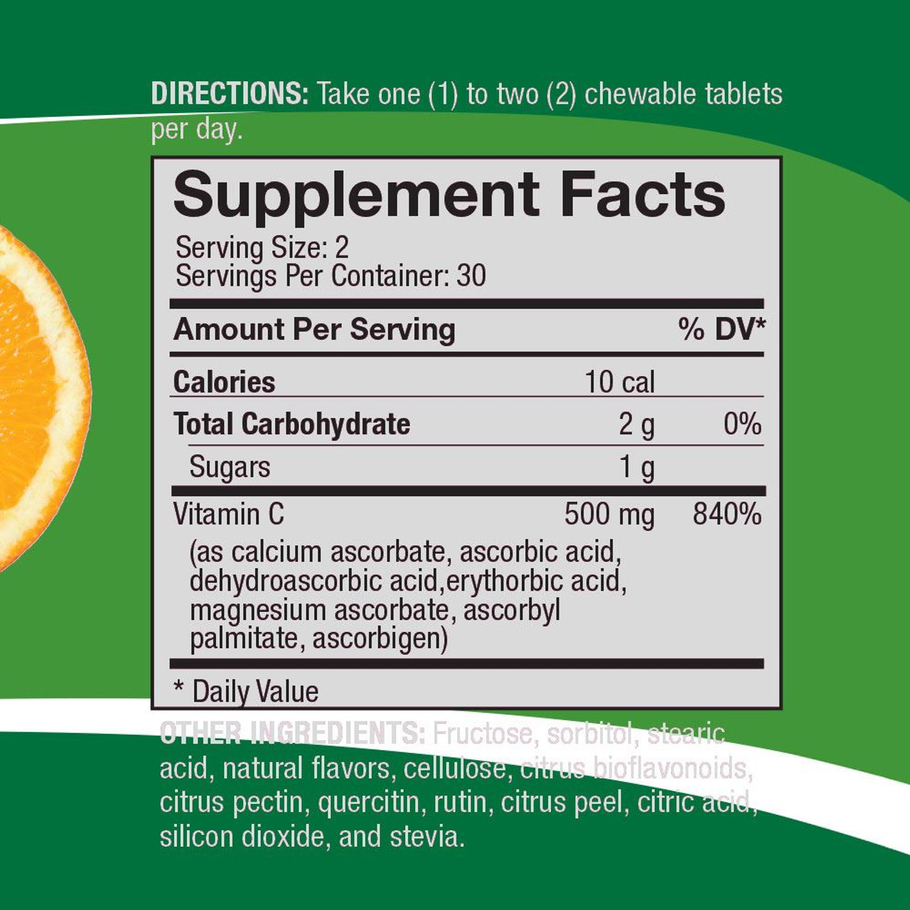 Supplemental Facts Life C Vitamin C by 4Life