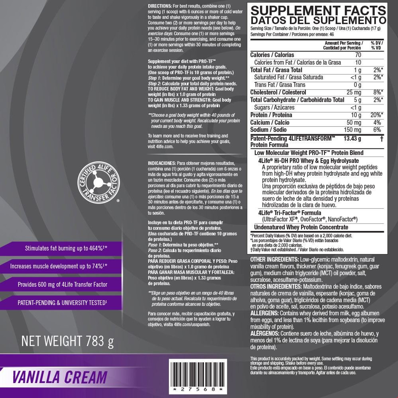 PRO-TF Powder Vanilla - 46 Servings