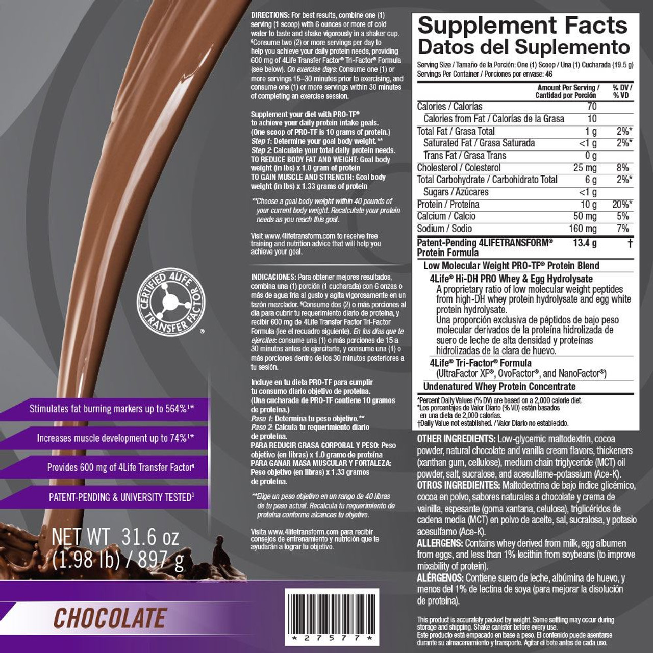 PRO-TF Powder Chocolate- 46 Servings
