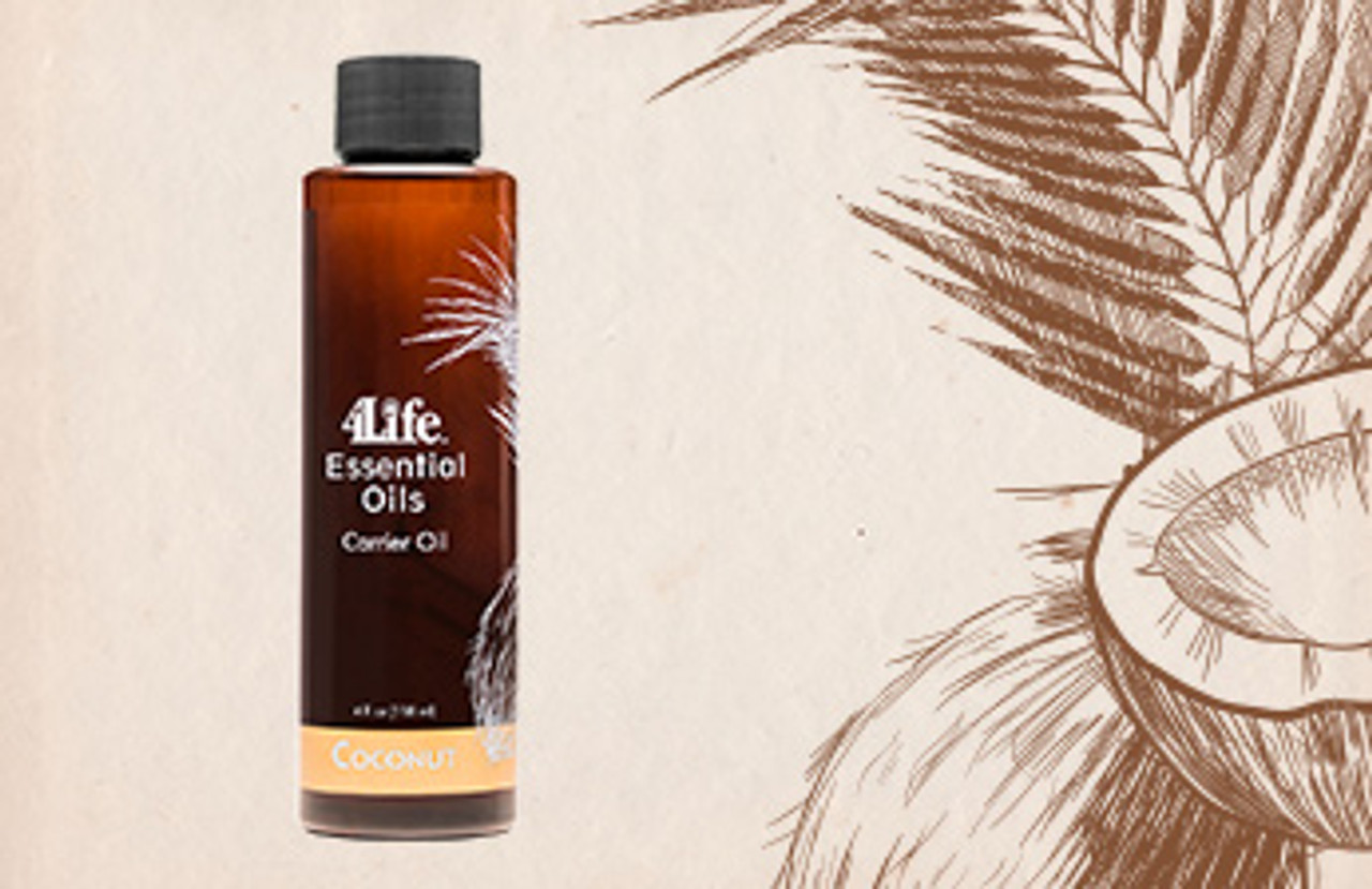 subtle coconut aroma blends beautifully with pure essential oils.