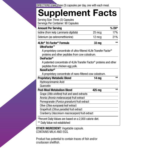 metabolite supplemental facts