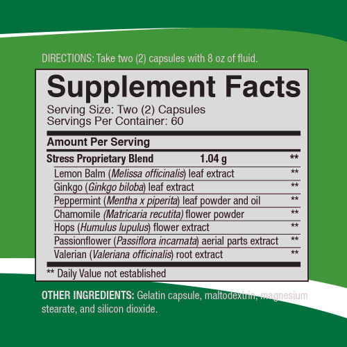 Stress Formula Supplemental Facts