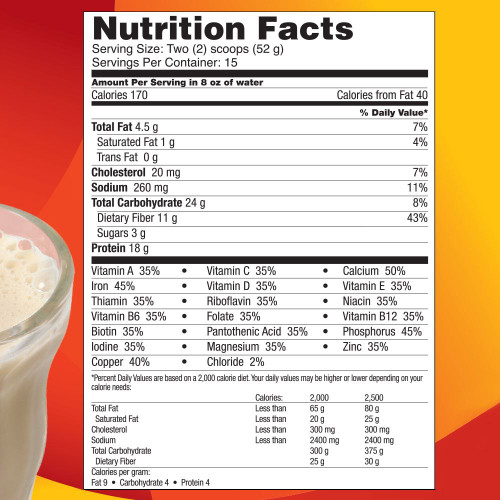 Supplemental Facts NutraStart Replacement by 4Life