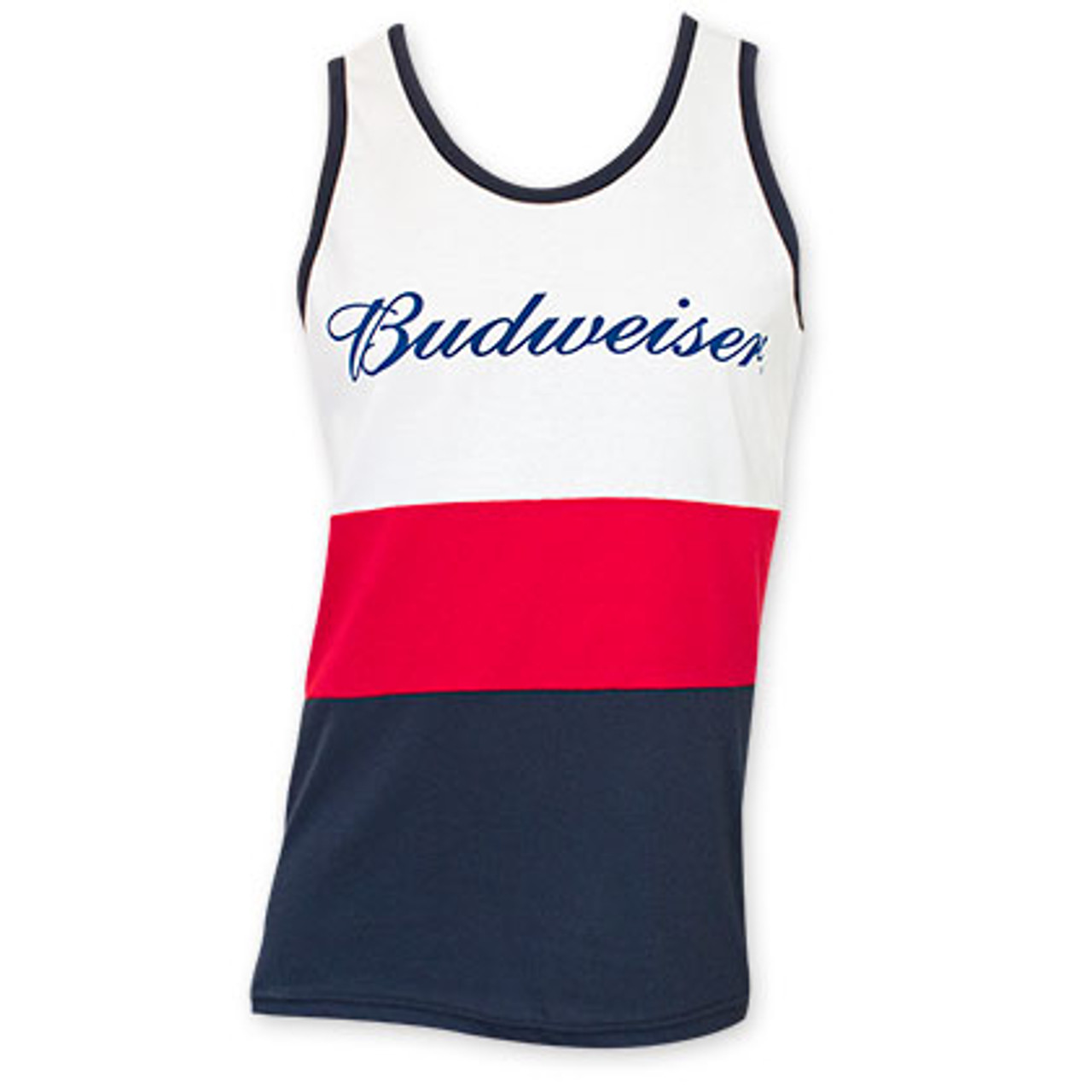d122d002e091 Budweiser Red White And Blue Tank Top - Quality Liquor Store