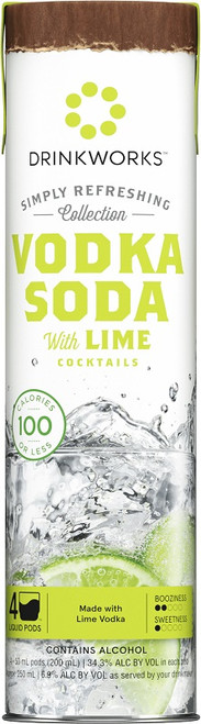 Drinkworks Simply Refreshing Vodka Soda With Lime