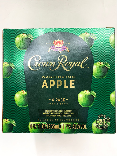 Crown Royal Apple Can 4-Pack