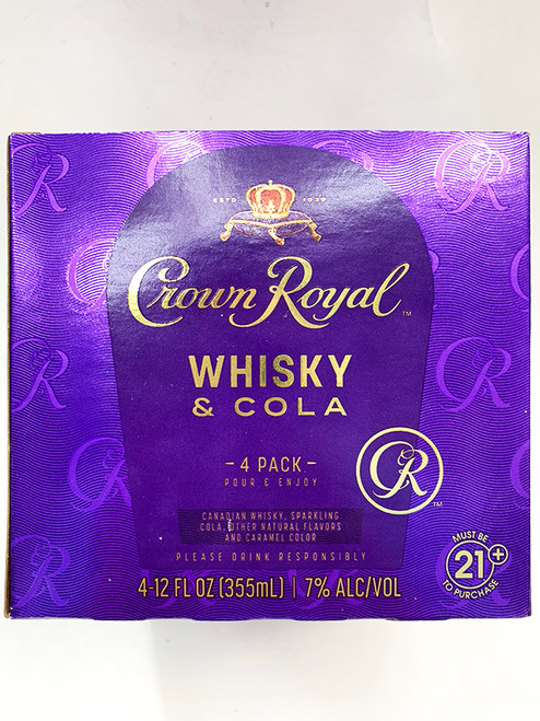 Crown Royal Whisky & Cola Can 4-Pack