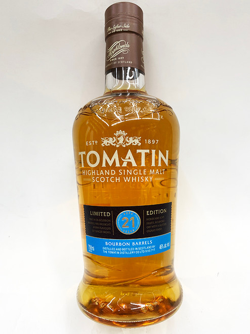 tomatin 21 year limited edition bourbon barrels