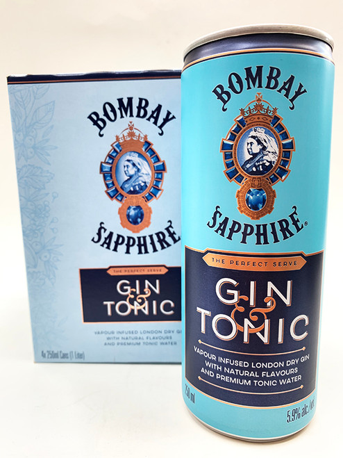 Bombay Gin & Tonic Can 4-Pack
