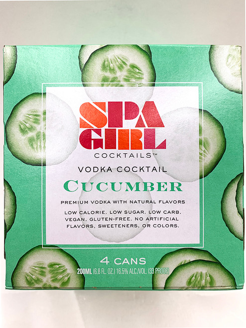 Spa Girl Cucumber Can Can 4 Pack