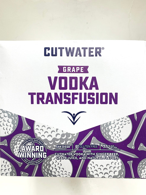 CutWater Grape Vodka Transfusion Can 4 Pack