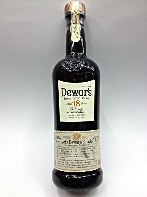 Dewar's Blended Scotch 18 Year The Vintage