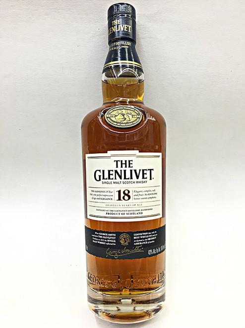 Glenlivet 18 Year Old Scotch Whiskey