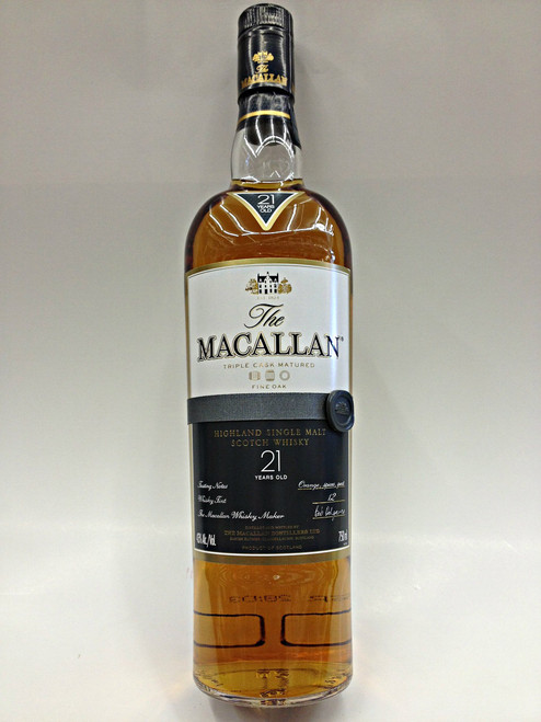 The Macallan 21 Year Old Scotch Whiskey
